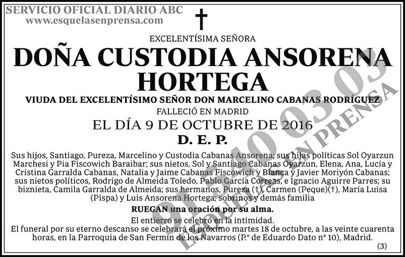 Custodia Ansorena Hortega
